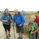 The HIll Family from Tucson. Their 8 year old son is doing the Camino!
