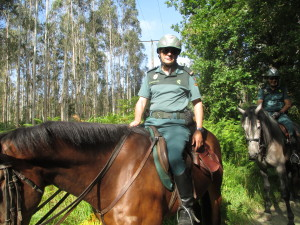 Friendly Spanish officer on the Camino