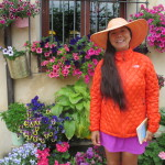 Miss Ly's top style on the Camino!